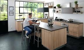 cuisine avec ilot central trendy ilot central cuisine ikea design scandinave chaise alinea