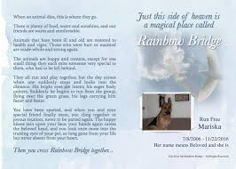 pet loss grief and support group just over the rainbow bridge