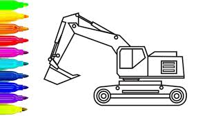 construction truck coloring pages excavator for kids colouring