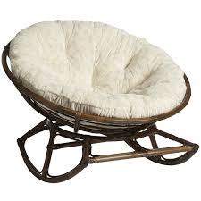 bedroom enjoyable rattan papasan chair in rocking chair design