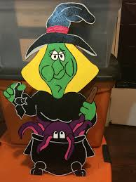 halloween witch i made just because halloween wood cutout