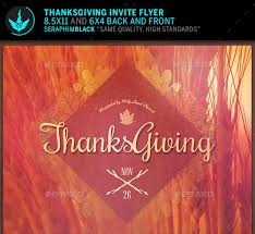 thanksgiving invitation flyer cogimbo us