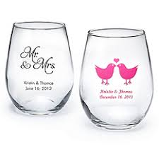 wedding favor glasses where to buy personalized stemless wine glasses weddingbee