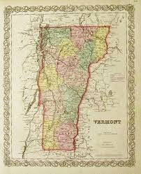 Map Of Vt Prints Old U0026 Rare Vermont Page