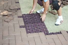 Cutting Patio Pavers Build A Patio With Composite Pavers How To