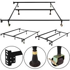 metal bed frame adjustable queen full twin size w center support