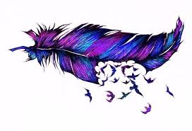 purple feather purple turquoise feather tattoo design minus the birds tattoos
