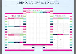 ms excel family travel planner template word u0026 excel