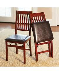 Folding Dining Chairs Padded Deals On Hamilton Wood Folding Dining Chairs Set Of 2