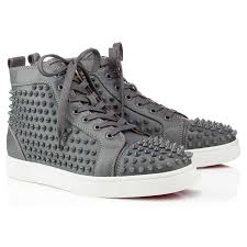 boot louboutin sneakers mens louis saffianostrass crystal strass