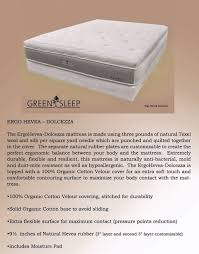 Organic Futon Cover Green Sleep Organic Mattresses In All Sizes The Organic Mattress