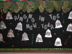 Display Board Decoration For New Year by New Year Bulletin Board Door Decoration Classroom Ideas