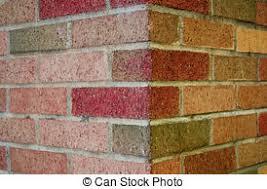 stock photography of weathered brick wall corner horizontal