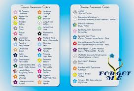 diabetes ribbon color forget me not flower color chart for cancer awareness colors