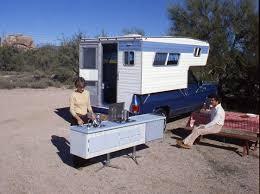 Vintage Ford Truck Camper - look truck slide in camper with detachable kitchen module