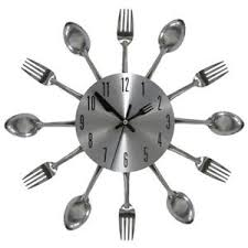 kitchen forks and knives kitchen wall clock cutlery decor 3d silverware utensils fork