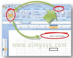 Cara Membuat Tulisan Watermark Di Excel | cara mudah membuat watermark di excel cara aimyaya cara semua cara