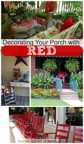 porch decorating with red porch decorating decorating tips and