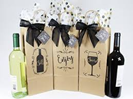 wine bottle bow wine bottle gift bags for all occasions set of 6