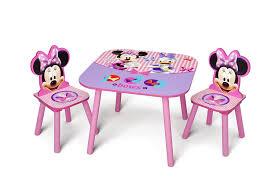 Minnie Mouse Toddler Bed Duvet Amazon Com Delta Children Table U0026 Chair Set Disney Minnie Mouse