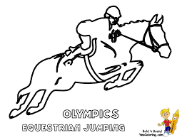 free olympic equestrian coloring pages everything horse and pony