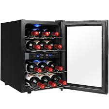 Single Wine Bottle Holder by Magic Chef 28 Bottle Wine Cooler In Black Mcwc28b The Home Depot