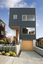 narrow lot house plans houston main street house shed architecture design modern steep slope amp