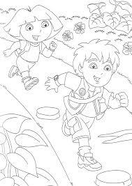 dora boots explorer color cartoon characters coloring
