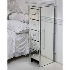 how high should a bedside table be tall venetian mirrored glass bedside table with five drawers and