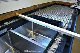 undermount sink concrete countertop pour in place concrete countertop full size of cement cement cost of