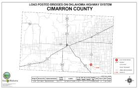 Oklahoma Counties Map Oklahoma Highway System Bridge Postings