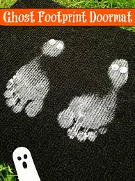 diy kids halloween ghost footprint rug dollar store craft