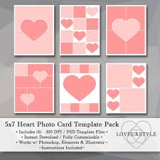5x7 photo template pack heart templates photo collage card