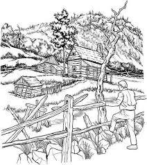 coloring pages for landscapes farm landscapes coloring pages bulk color