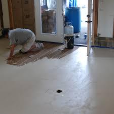 concrete floor looks like wood