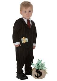 infant gangster costume toddler halloween gangster costumes