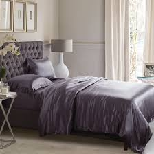 charcoal grey silk bed linen from pure mulberry silk
