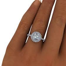 circle engagement ring angel halo brilliant engagement ring 1ct