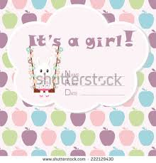 baby arrival card baby shower stock vector 230770663