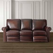 Furniture Leather Sofa Dark Brown Leather Motion Sofa Bassett Home Furnishings