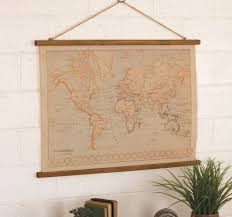 Vintage World Map by World Map Canvas Vintage Style Art Angels Market