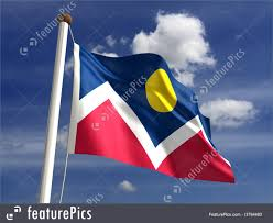 Flag Of Denver Denver City Flag Illustration