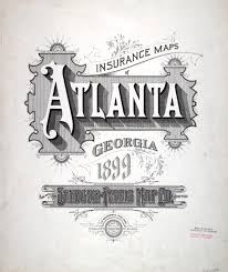 Maps Of Atlanta by Hand Drawn Type For Insurance Maps Of Atlanta Circa 1899 Good