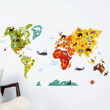 world map with country names contemporary wall decal sticker world map wall decal ideas