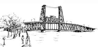 urban sketchers portland cherry blossoms and the steel bridge