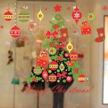 good christmas tree gift wall sticker decals window party store