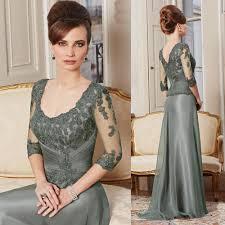 mother of the bride groom dresses scoop neck 3 4 sleeve wedding