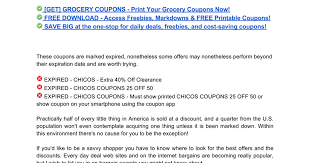 chicos coupons chicos coupons 25 50 docs