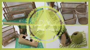 Trendy Desk Accessories by Diy Gold Office Accessories Youtube