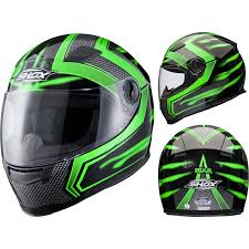 kbc motocross helmets shox sniper skar green motorcycle helmet scooter full face crash